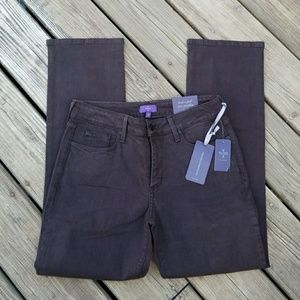 NWT women's NYDJ 10 P black tummy control  jeans